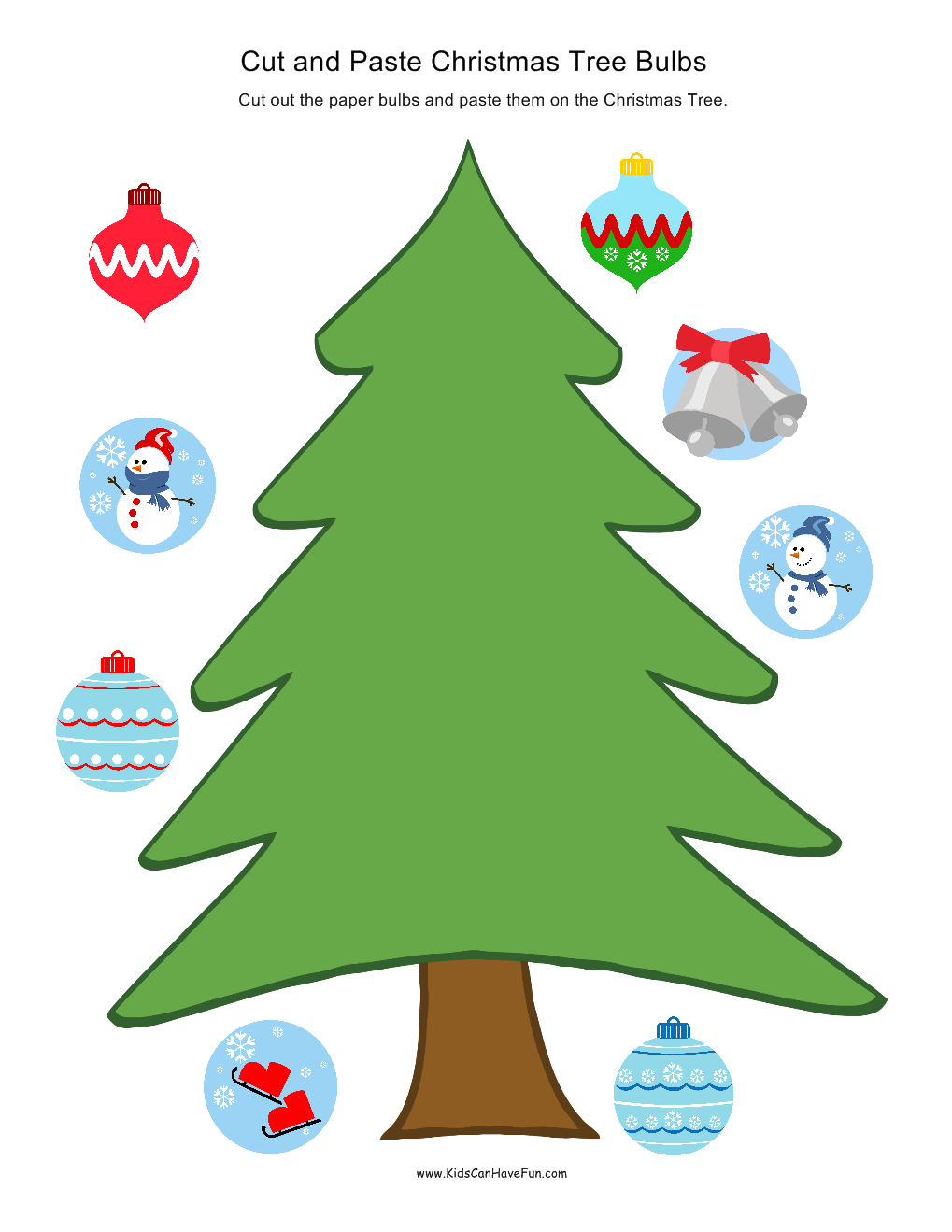 Christmas Coloring Pages Cut And Paste With Holiday Worksheet Activities