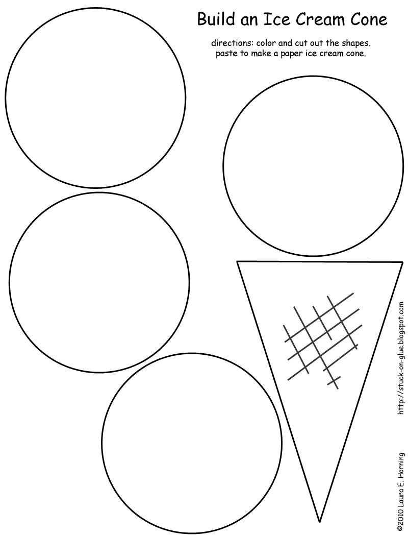 Christmas Coloring Pages Cut And Paste With Ice Cream Cone Kindergarten Pinterest