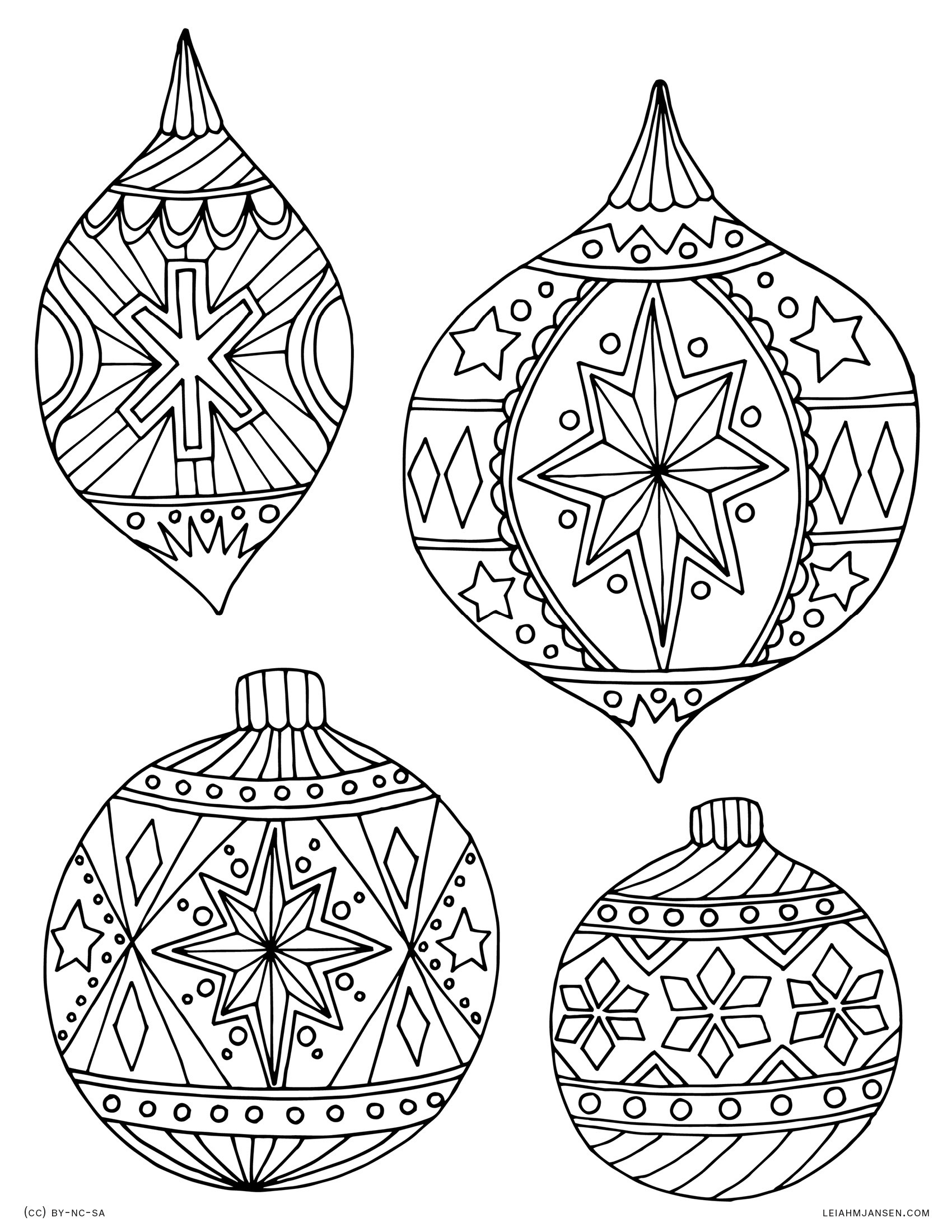 Christmas Coloring Pages Cut Out With Tree Decorations Sheets Save Angel