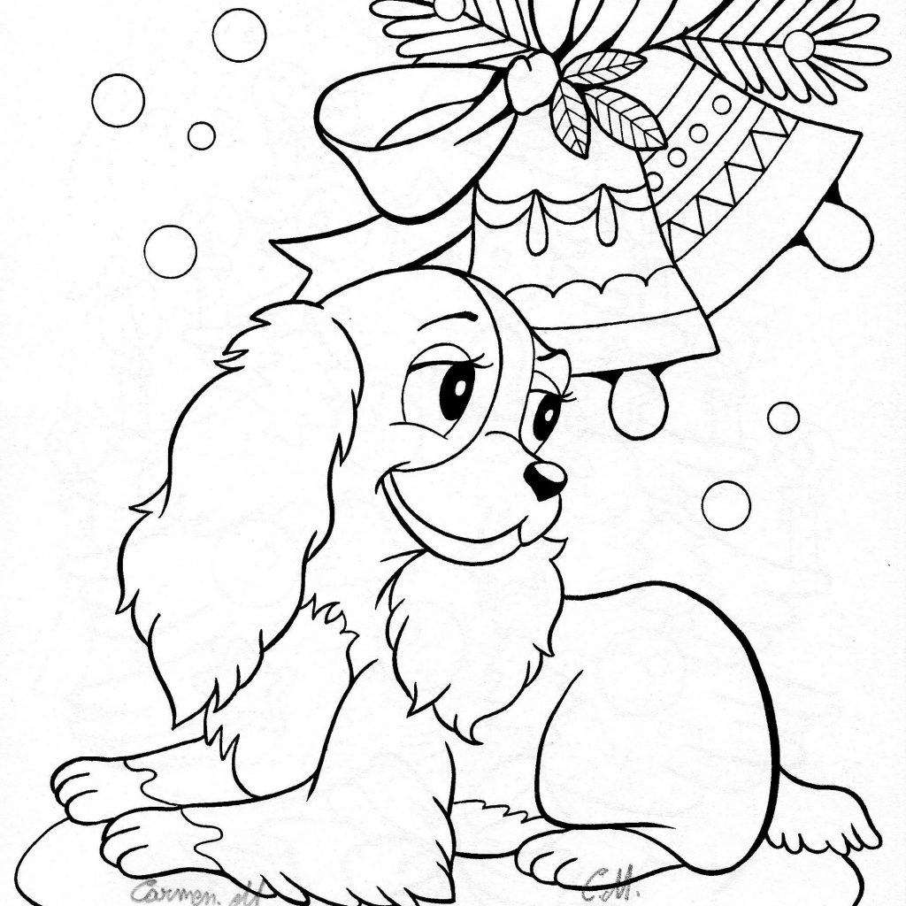 Christmas Coloring Pages Cute With Kids Crafts