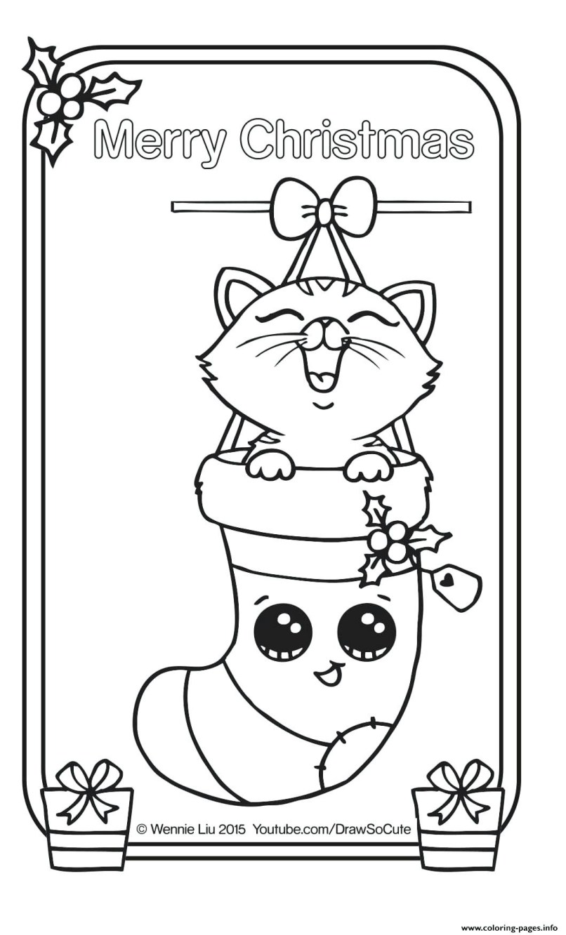 Christmas Coloring Pages Cute With Pictures To Color Imaganationface Org