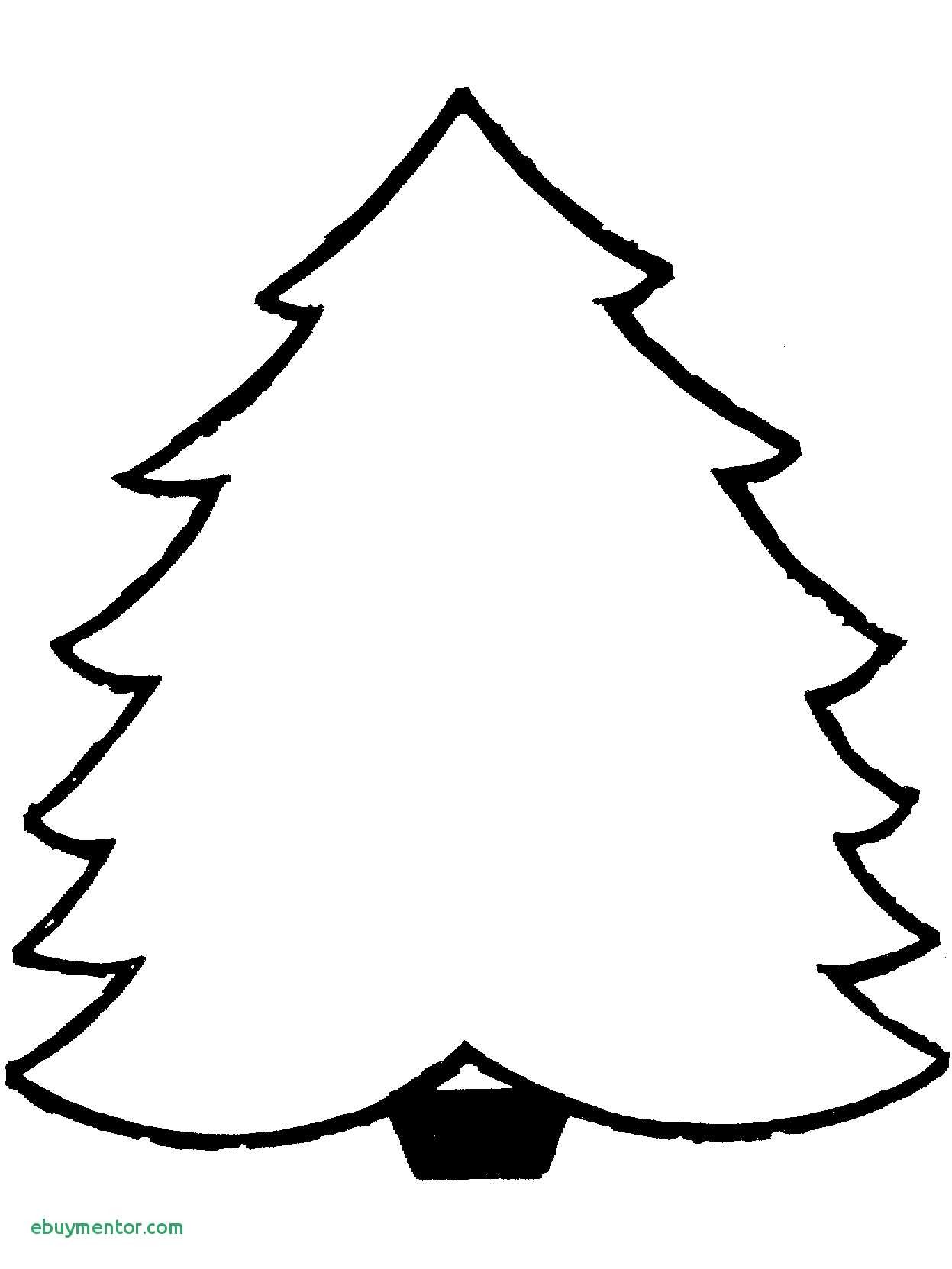 Christmas Coloring Pages Cutouts With Tree Outline Page Inspirationa Cutout
