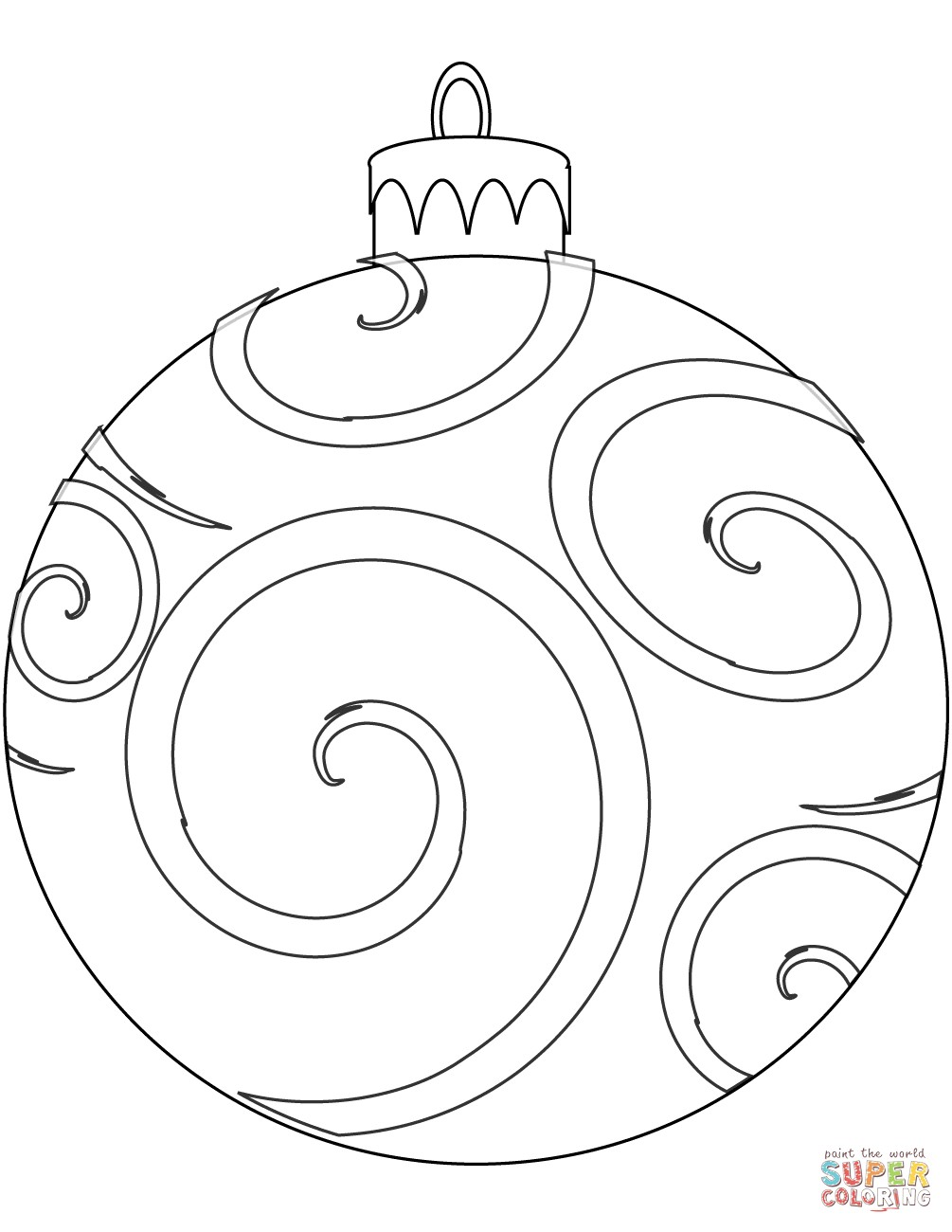 Christmas Coloring Pages Decorations With Ornament Page Runninggames Me