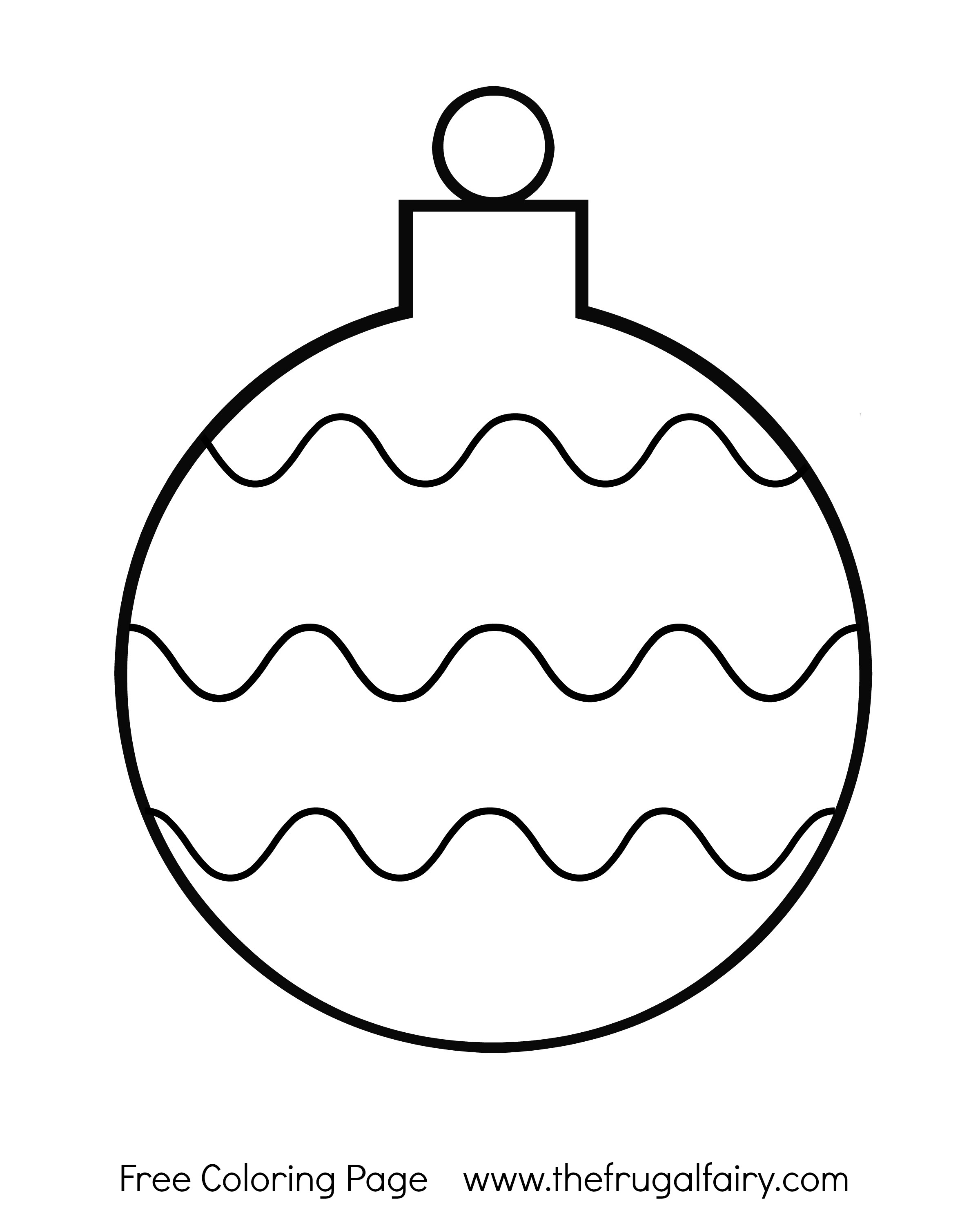 Christmas Coloring Pages Decorations With Printable Tree Ornaments Festival Collections