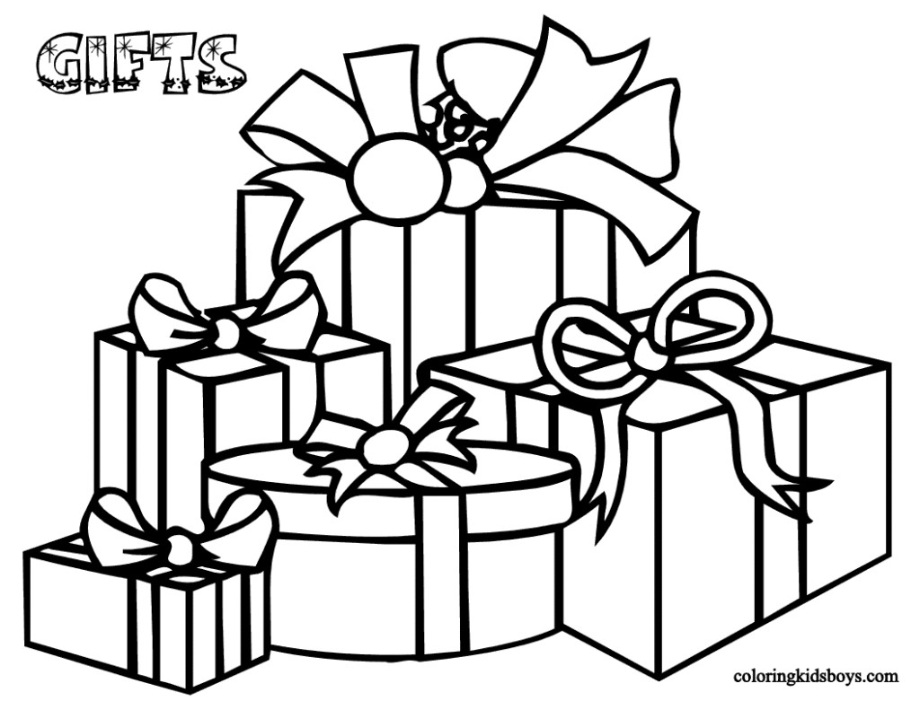 Christmas Coloring Pages Decorations With Xmas Color Free Printable