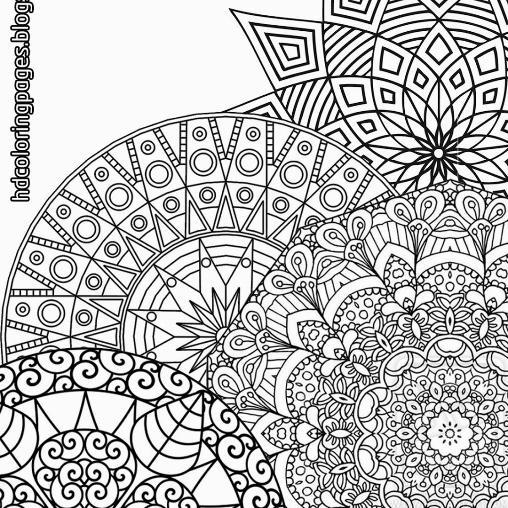 Christmas Coloring Pages Detailed With Super Mandalas For Adult