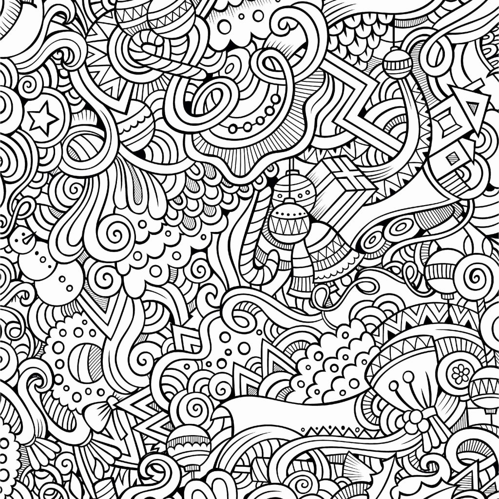 Christmas Coloring Pages Difficult With For