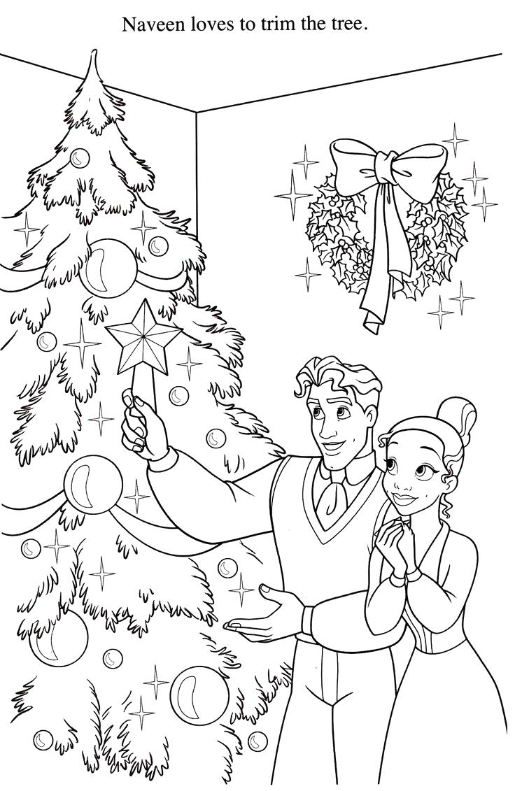 Christmas Coloring Pages Disney Princess With Fresh Collection