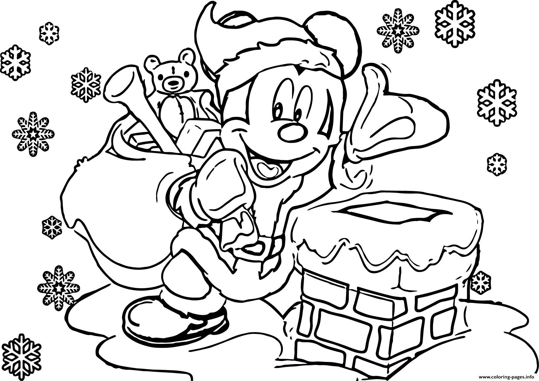 Christmas Coloring Pages Disney With Color Printable