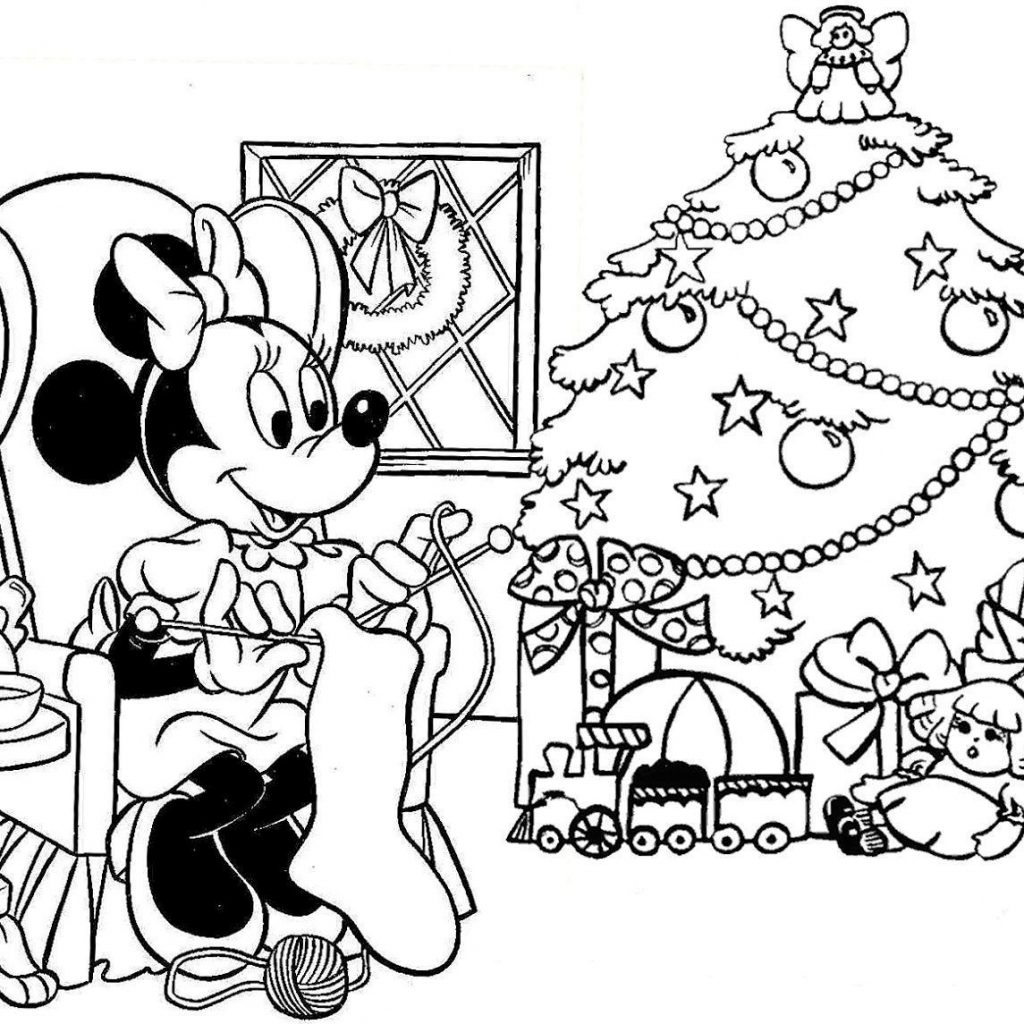 Christmas Coloring Pages Disney With Fresh Collection Printable