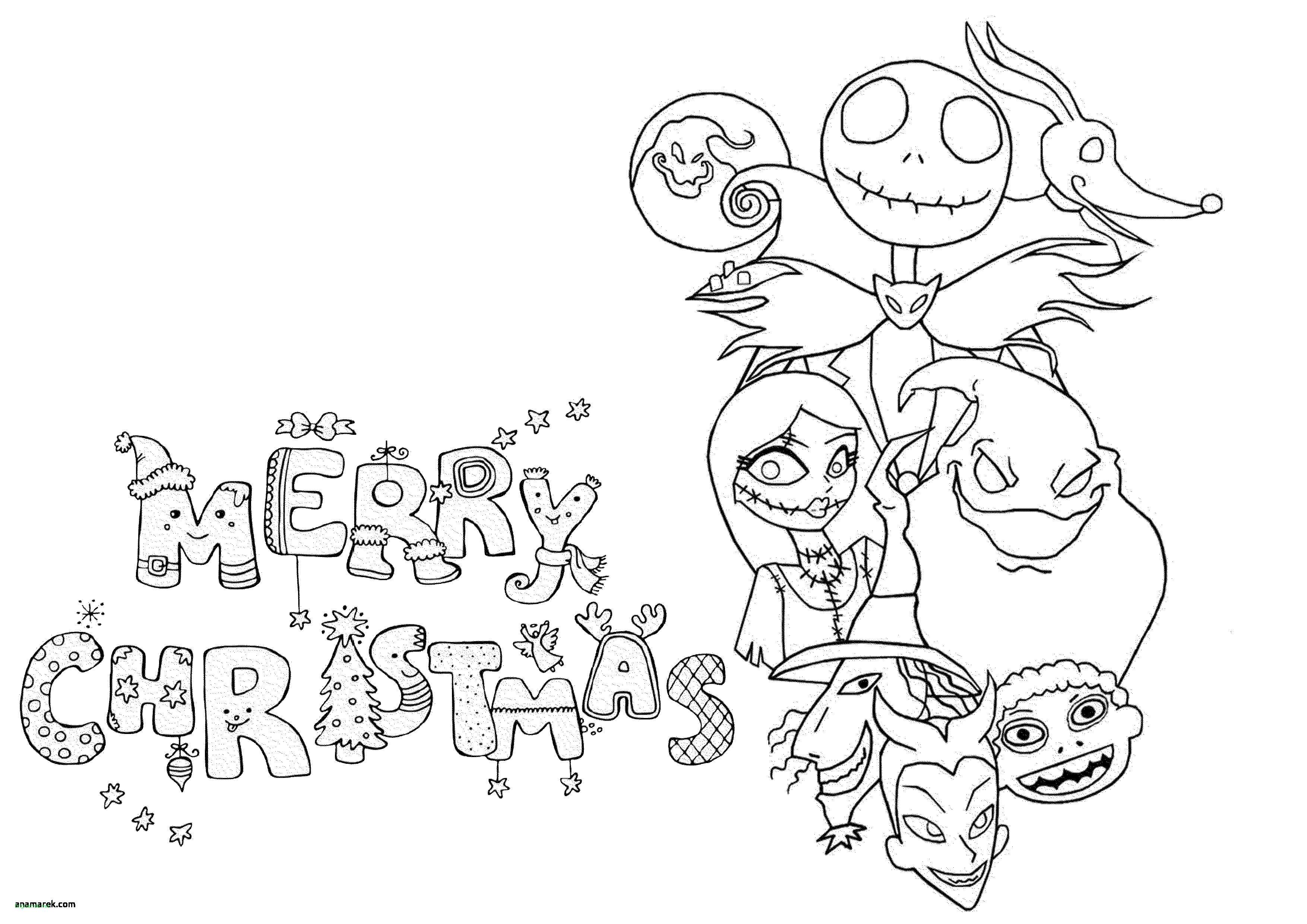 Christmas Coloring Pages Disney With Nightmare Before Drawings Coolest Unique
