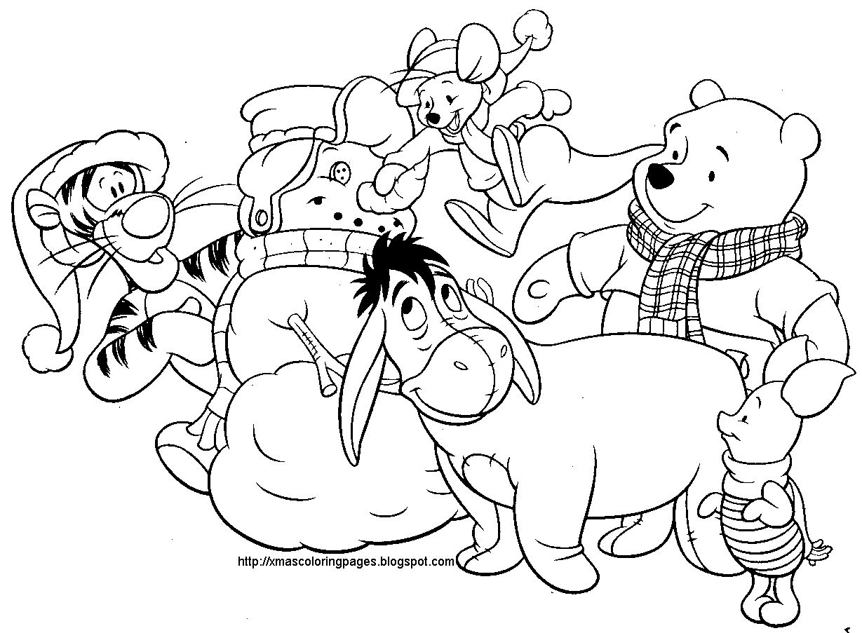 Christmas Coloring Pages Disney With Pinterest