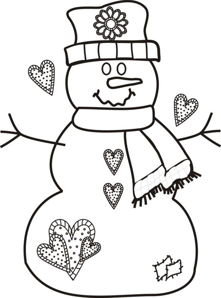 Christmas Coloring Pages Dltk With Free Snowman 2278514