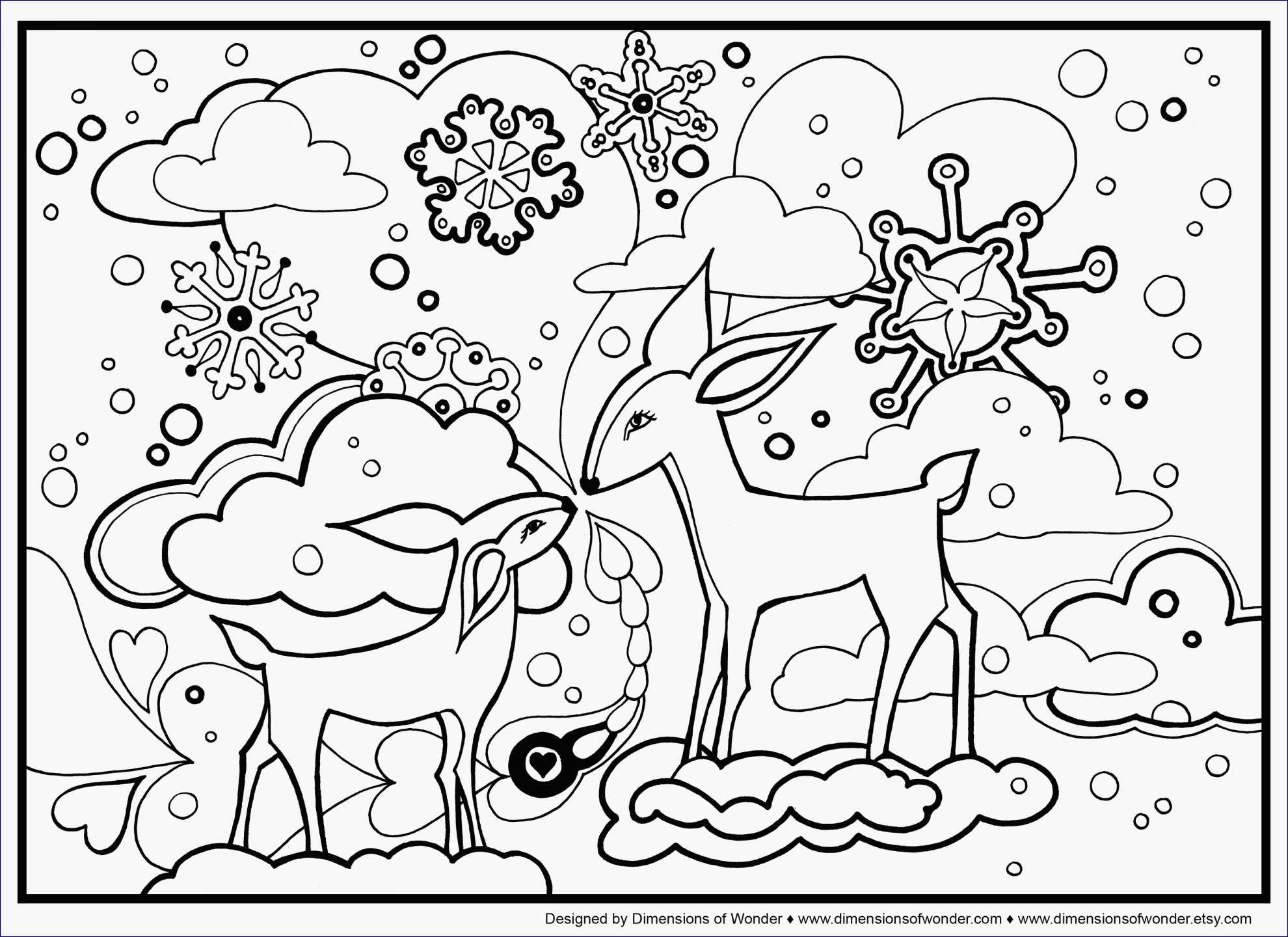 Christmas Coloring Pages Dltk With My Localdea