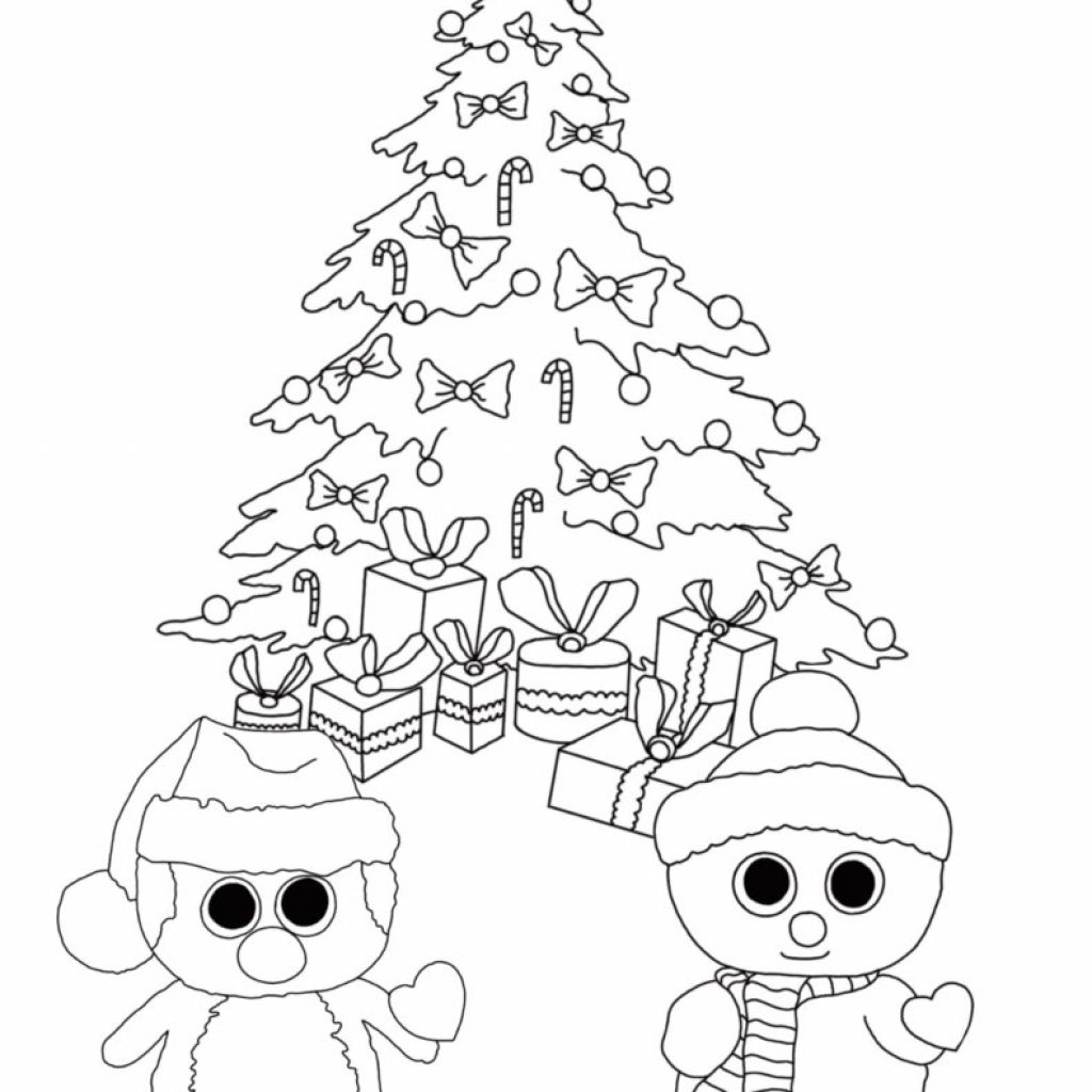 Christmas Coloring Pages Dogs With Free Beanie Boo Download Print Cats And Unicorns