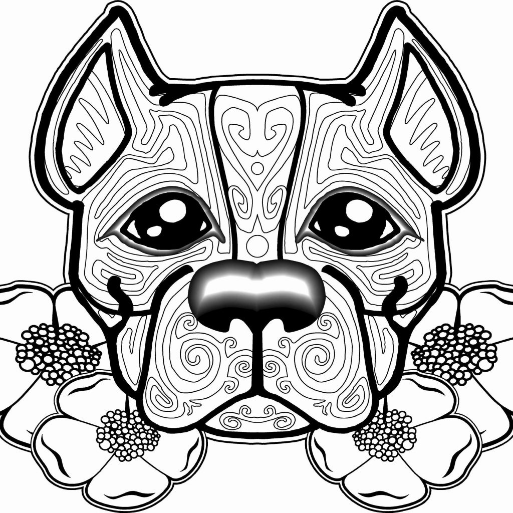 Christmas Coloring Pages Dogs With Free Of For