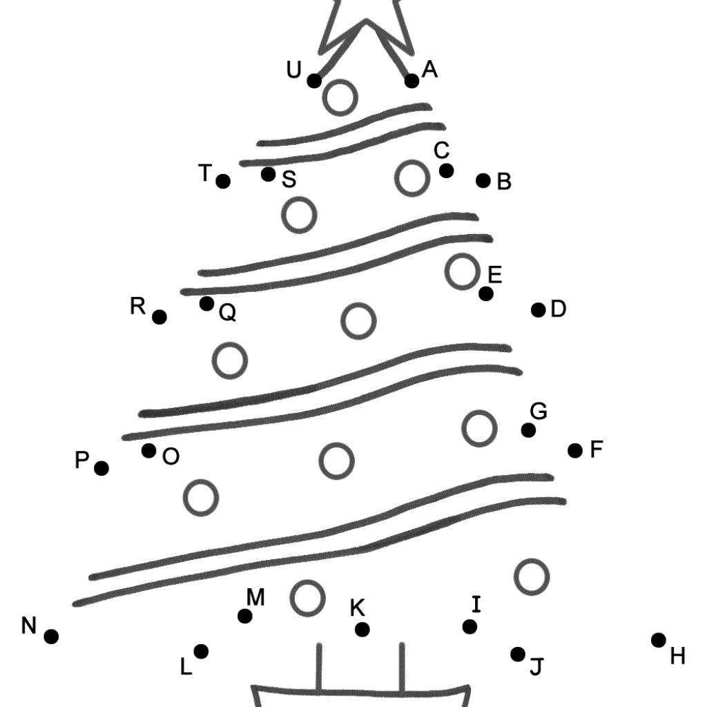 Christmas Coloring Pages Dot To With Luxury Alphabet