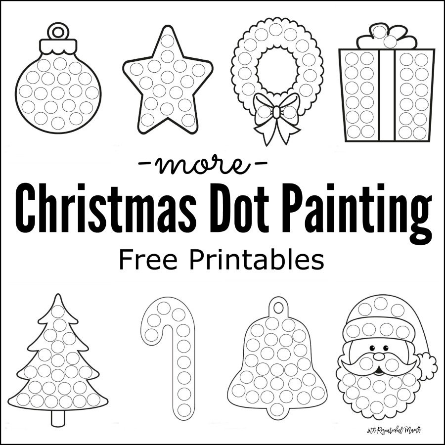 Christmas Coloring Pages Dot To With More Painting Free Printables The Resourceful Mama