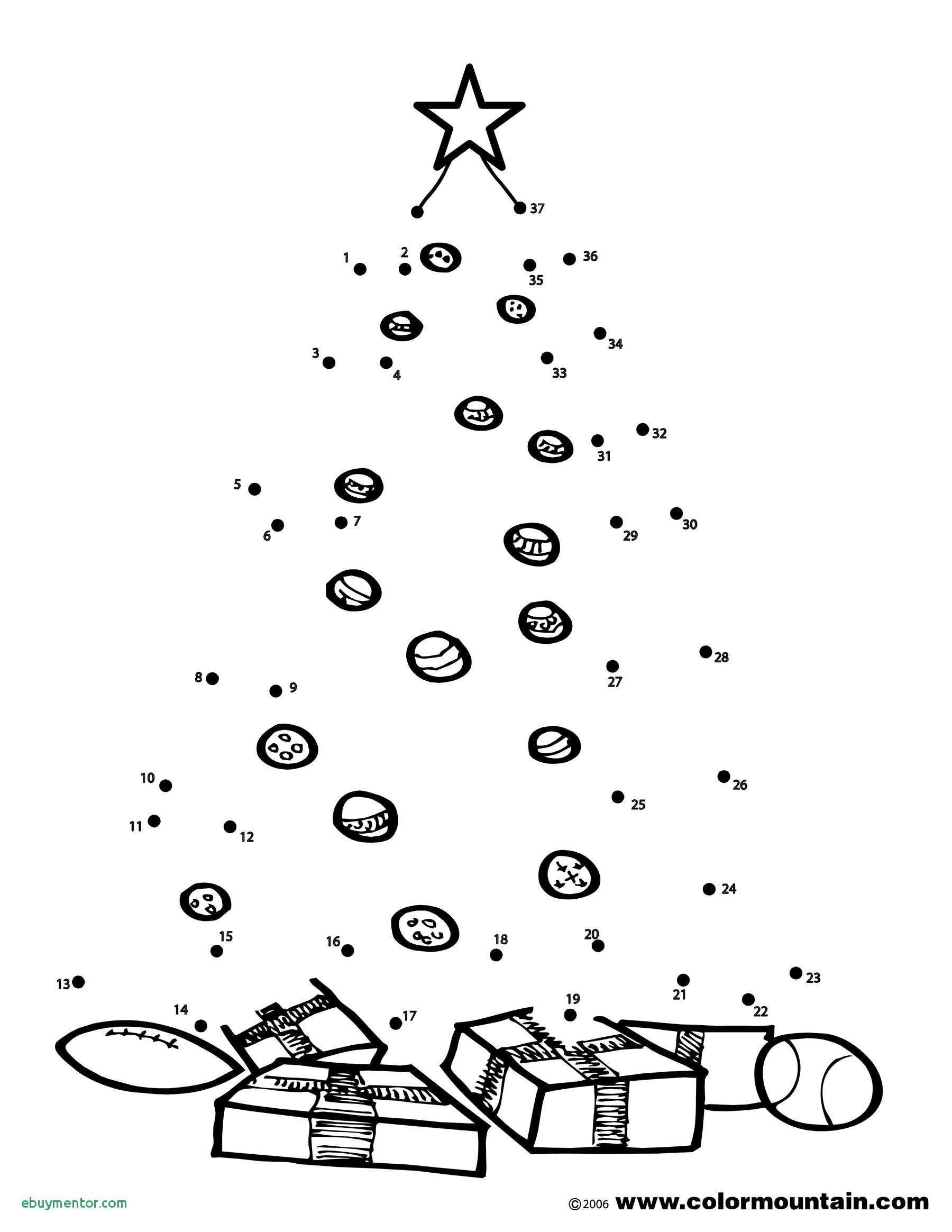 Christmas Coloring Pages Dot To With Tree New Activity