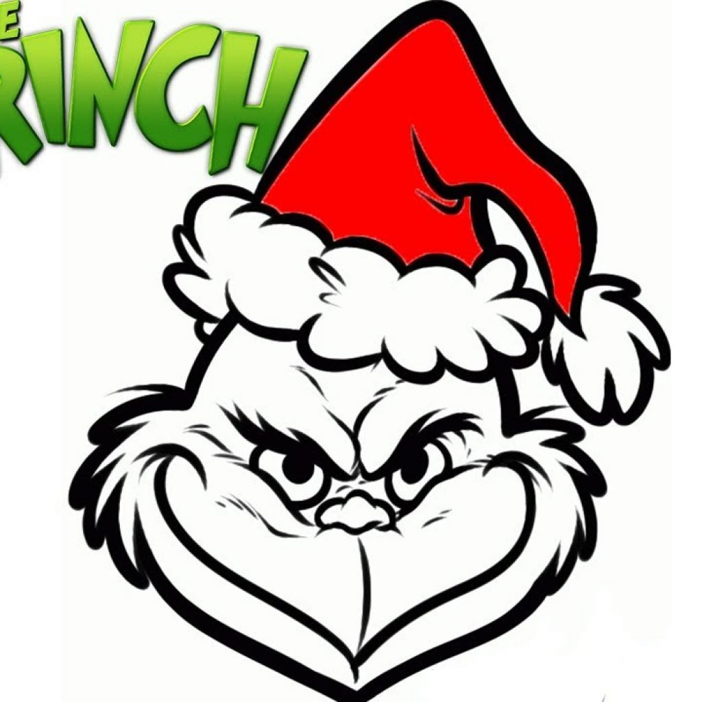 Christmas Coloring Pages Easy With How To Draw Grinch For Kids Cartoon Stuff Art