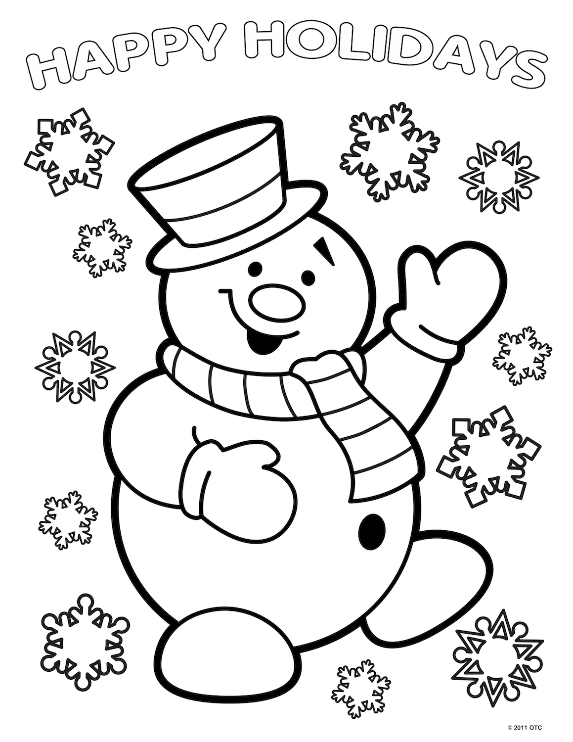 Christmas Coloring Pages Easy With
