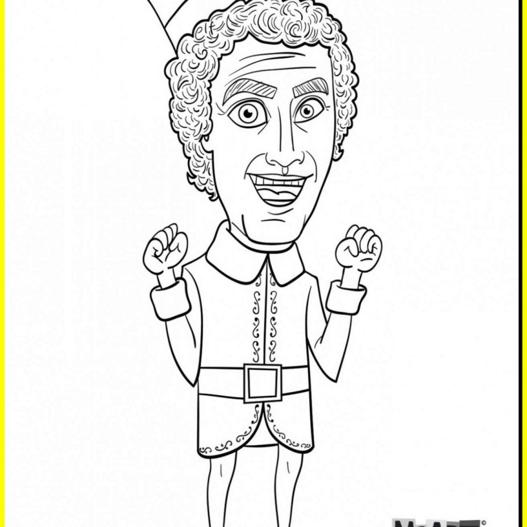 christmas-coloring-pages-elf-on-the-shelf-with