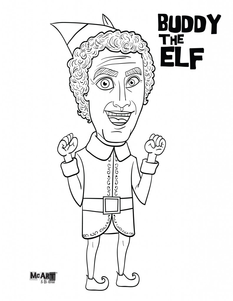 Christmas Coloring Pages Elf On The Shelf With Popular Sheet Movie