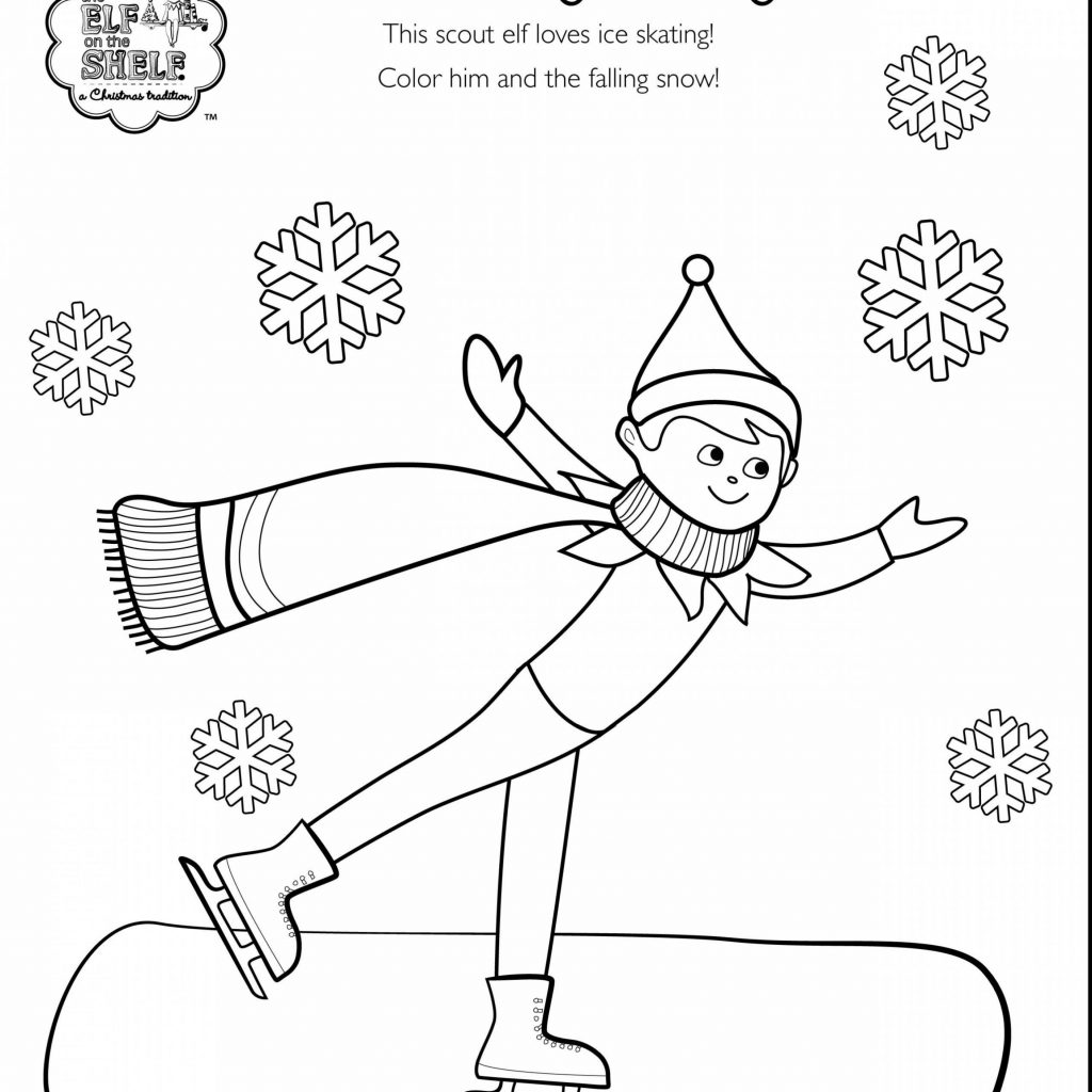 Christmas Coloring Pages Elf On The Shelf With Printable Free Books