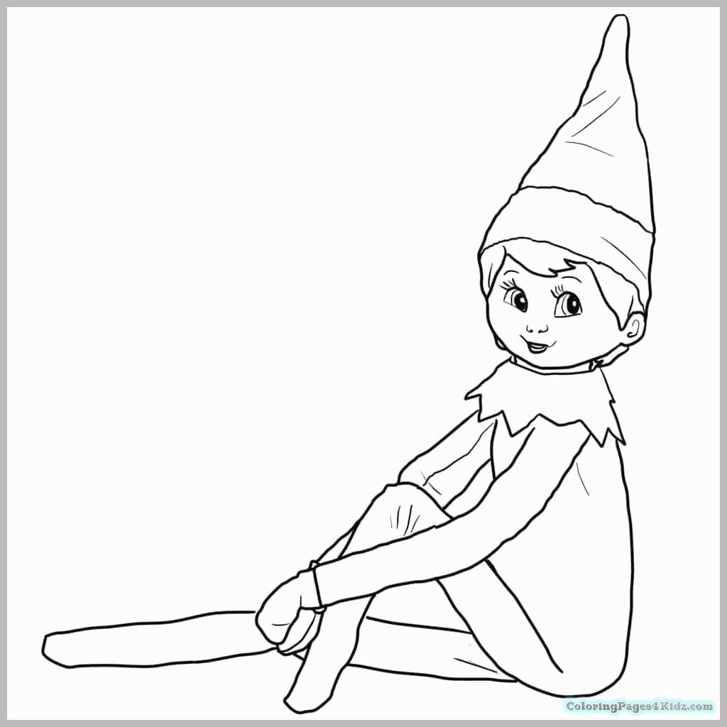 Christmas Coloring Pages Elf On The Shelf With Printable Page