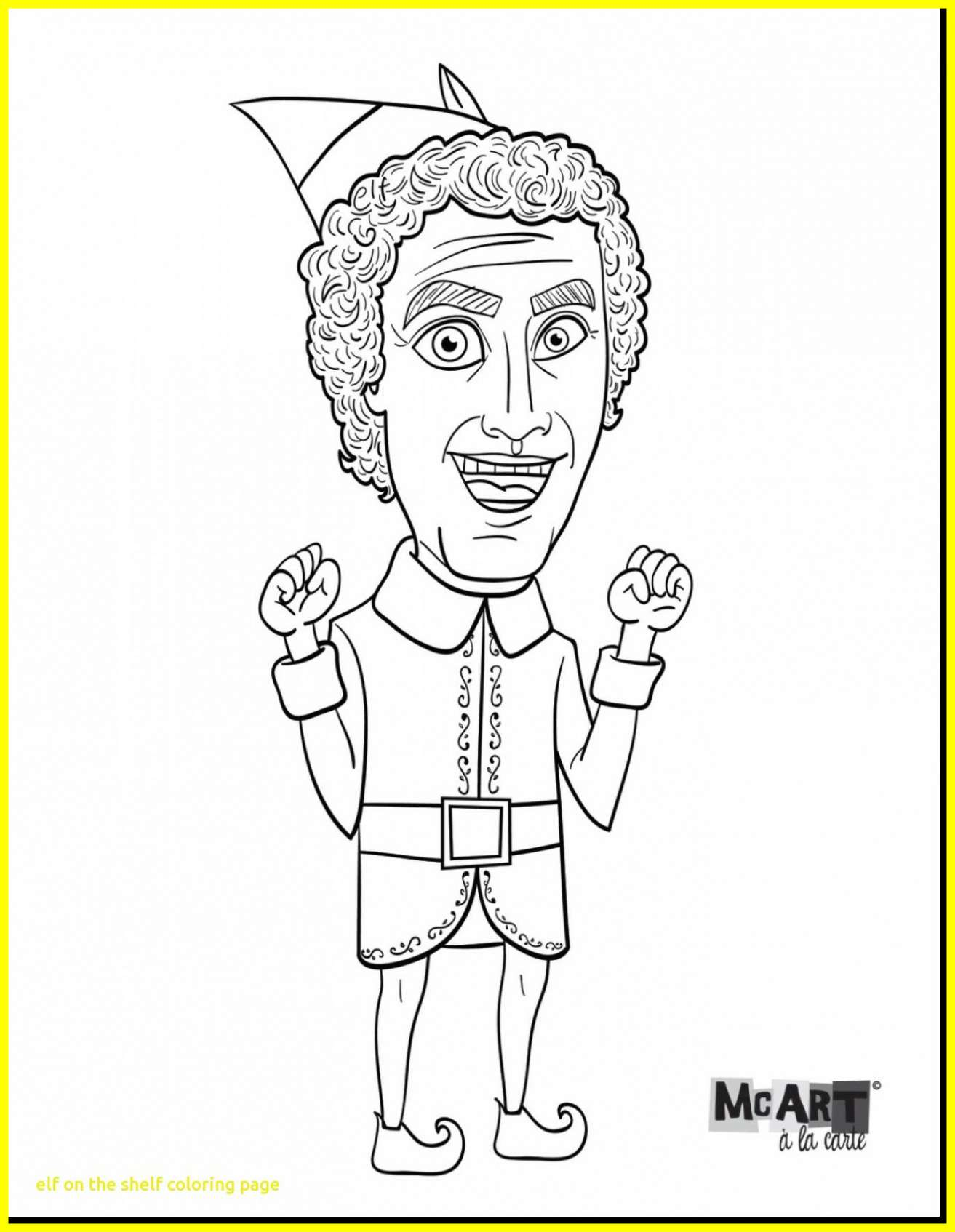 Christmas Coloring Pages Elf On The Shelf With