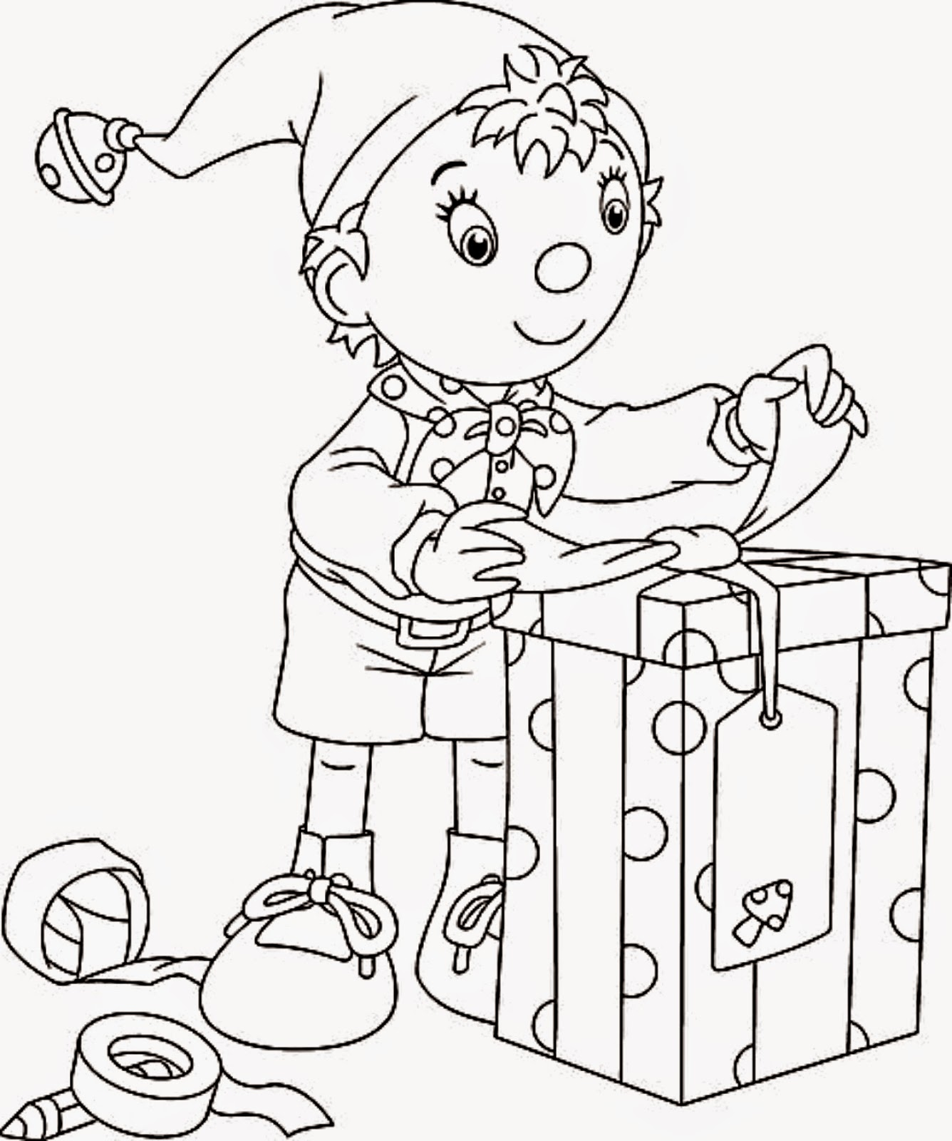Christmas Coloring Pages Elf With Printable Free Books