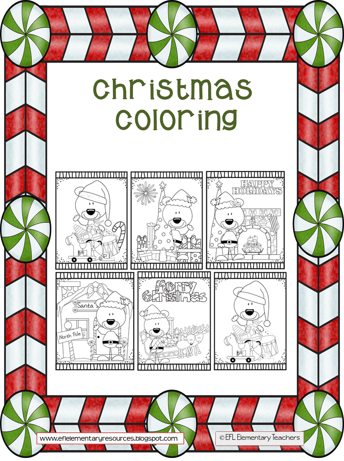 Christmas Coloring Pages Esl With ESL EFL Preschool Teachers