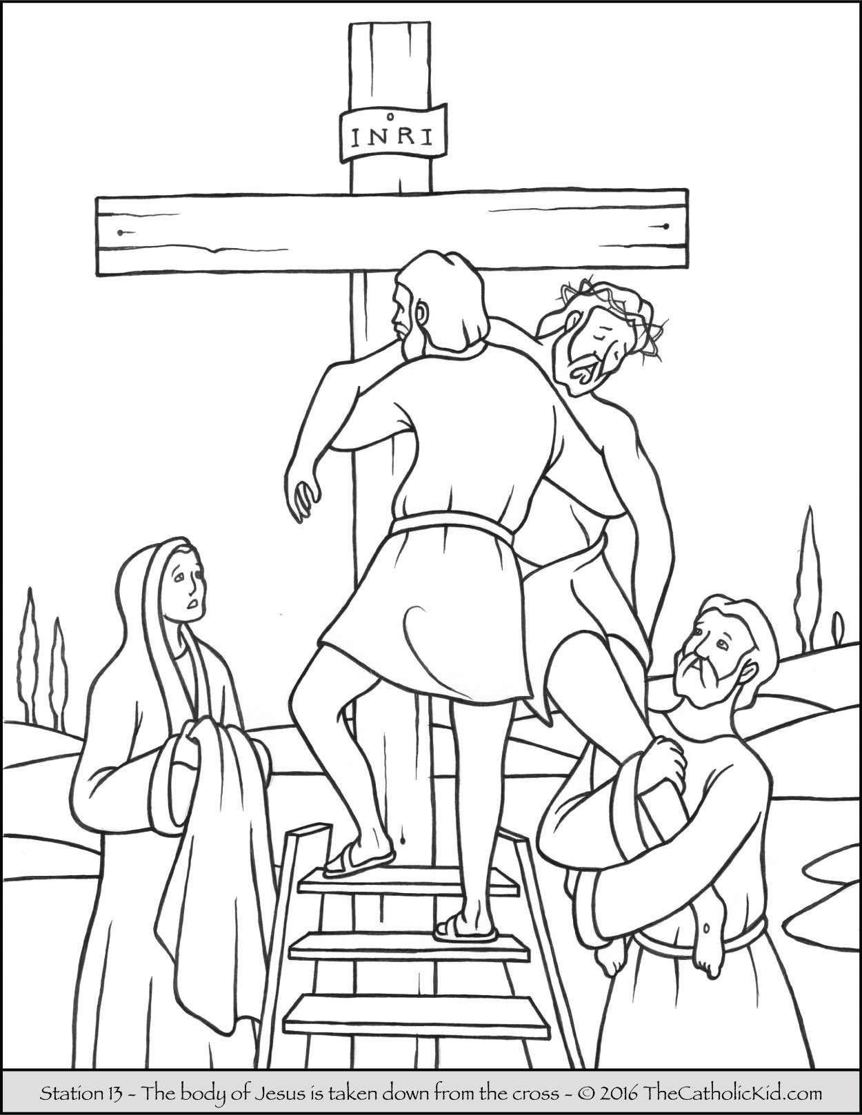 Christmas Coloring Pages For 11 Year Olds With Three Crosses Page