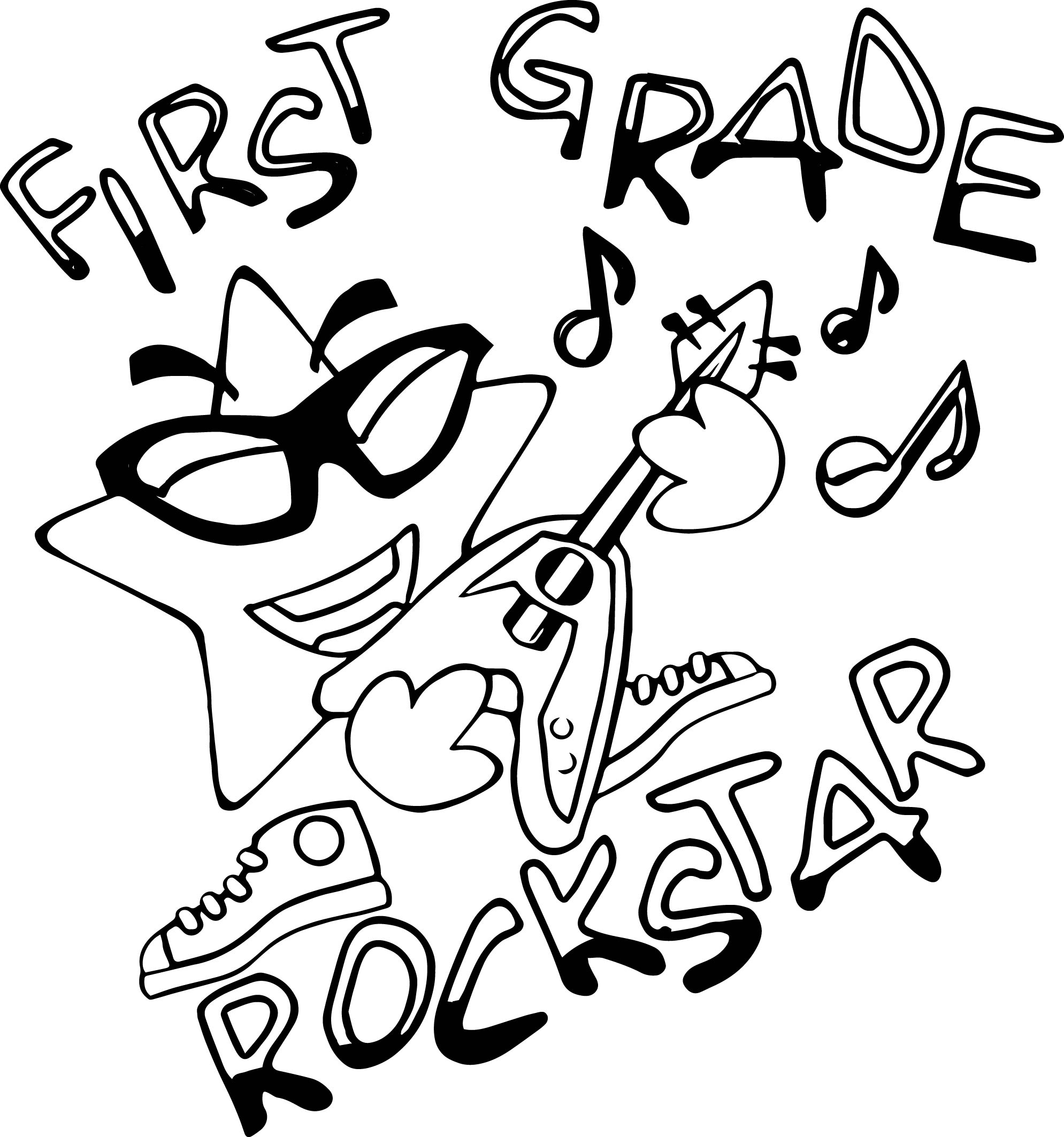 Christmas Coloring Pages For 1st Graders With Still Early Hey Zecora Page First Grade Rock Star