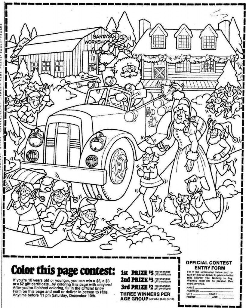 Christmas Coloring Pages For 2 Year Olds With 3 Printable Page