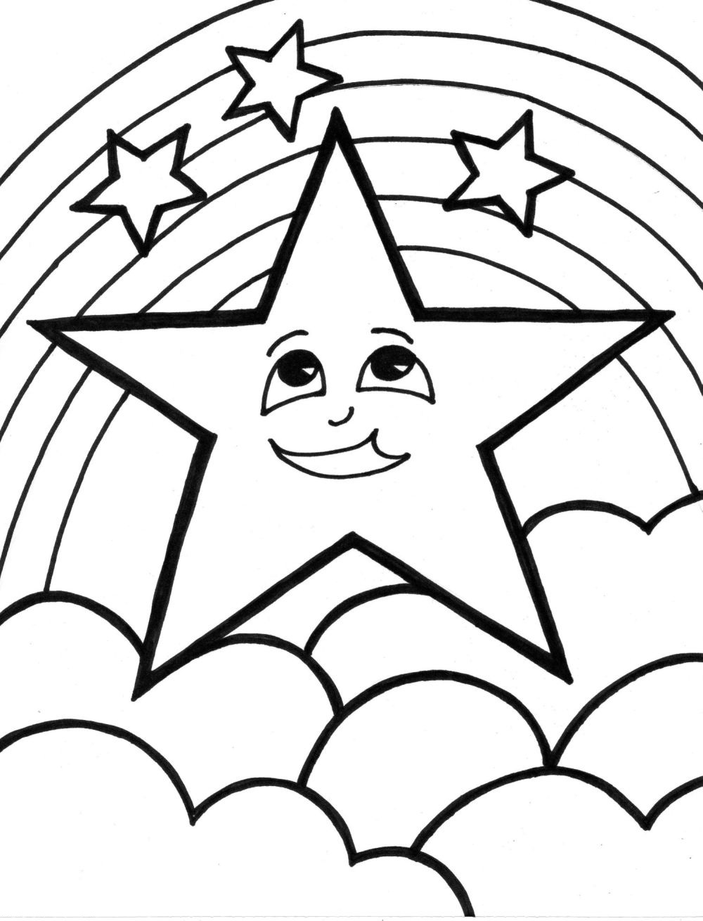Christmas Coloring Pages For 2 Year Olds With Free Shooting Star Download Clip Art