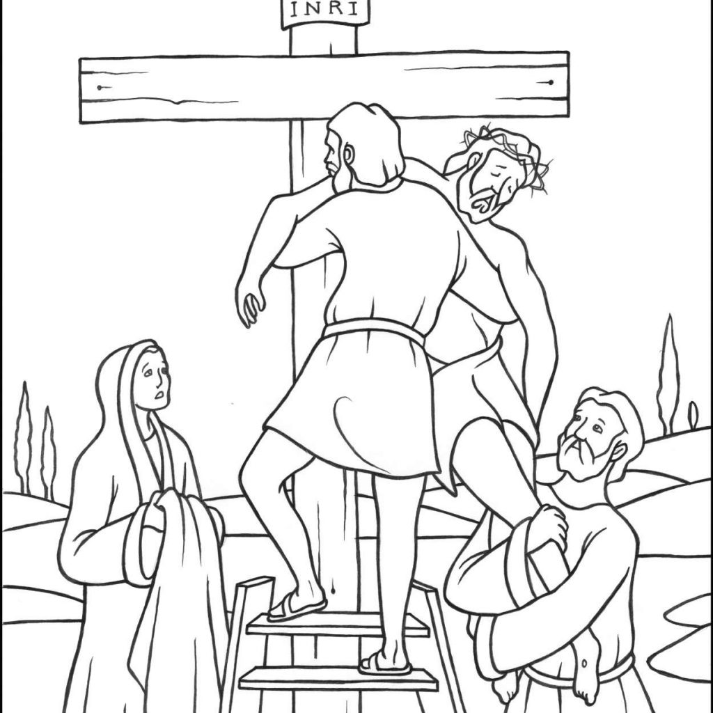 Christmas Coloring Pages For 3 Year Olds With Three Crosses Page 11