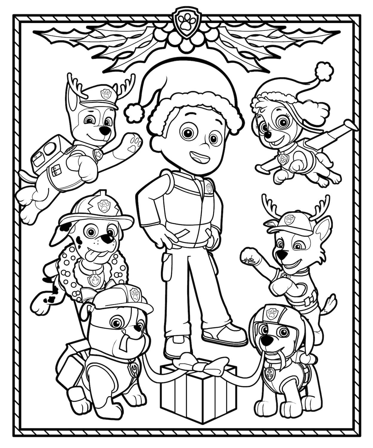 Christmas Coloring Pages For 4 Year Olds With