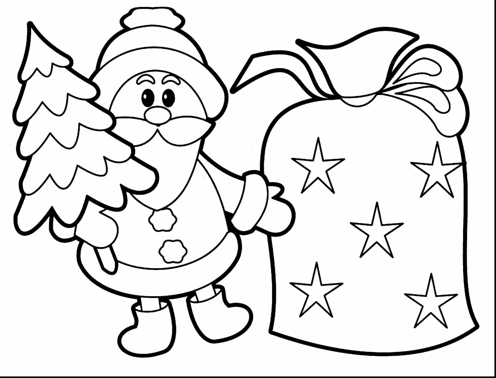 Christmas Coloring Pages For 5 Year Olds With Best 2018 Kids