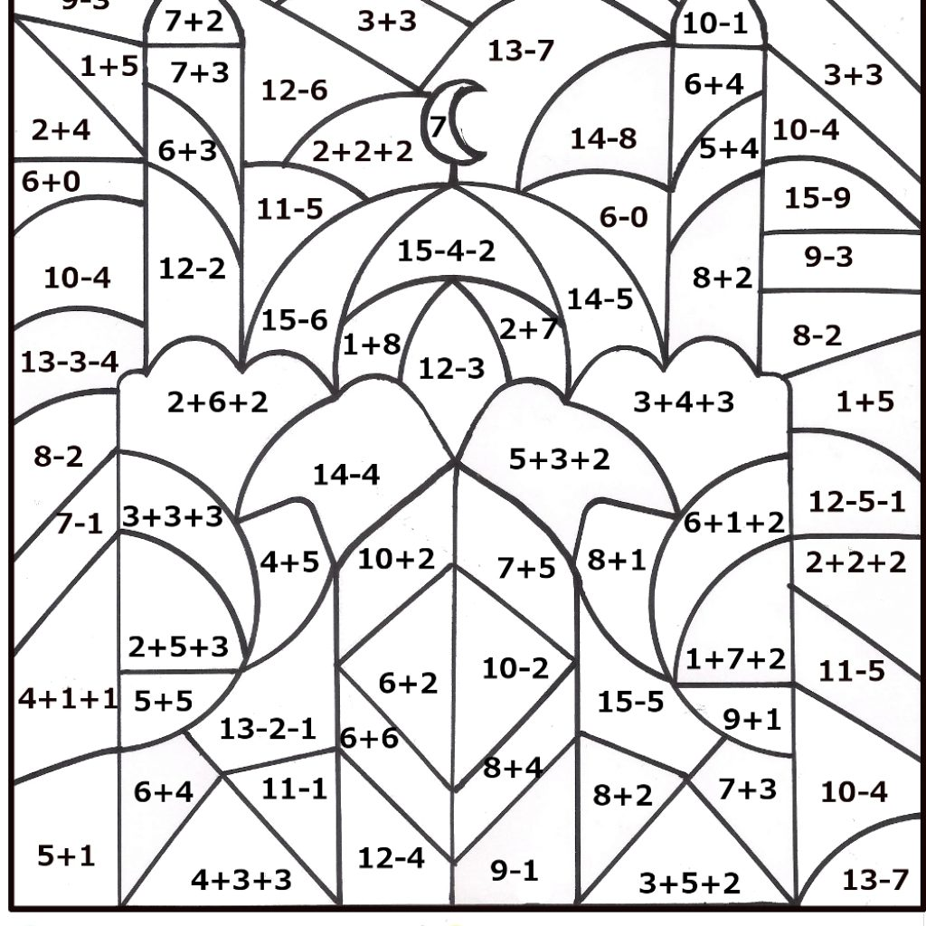 Christmas Coloring Pages For 6th Grade With Division Worksheets Download Them And Try To Solve