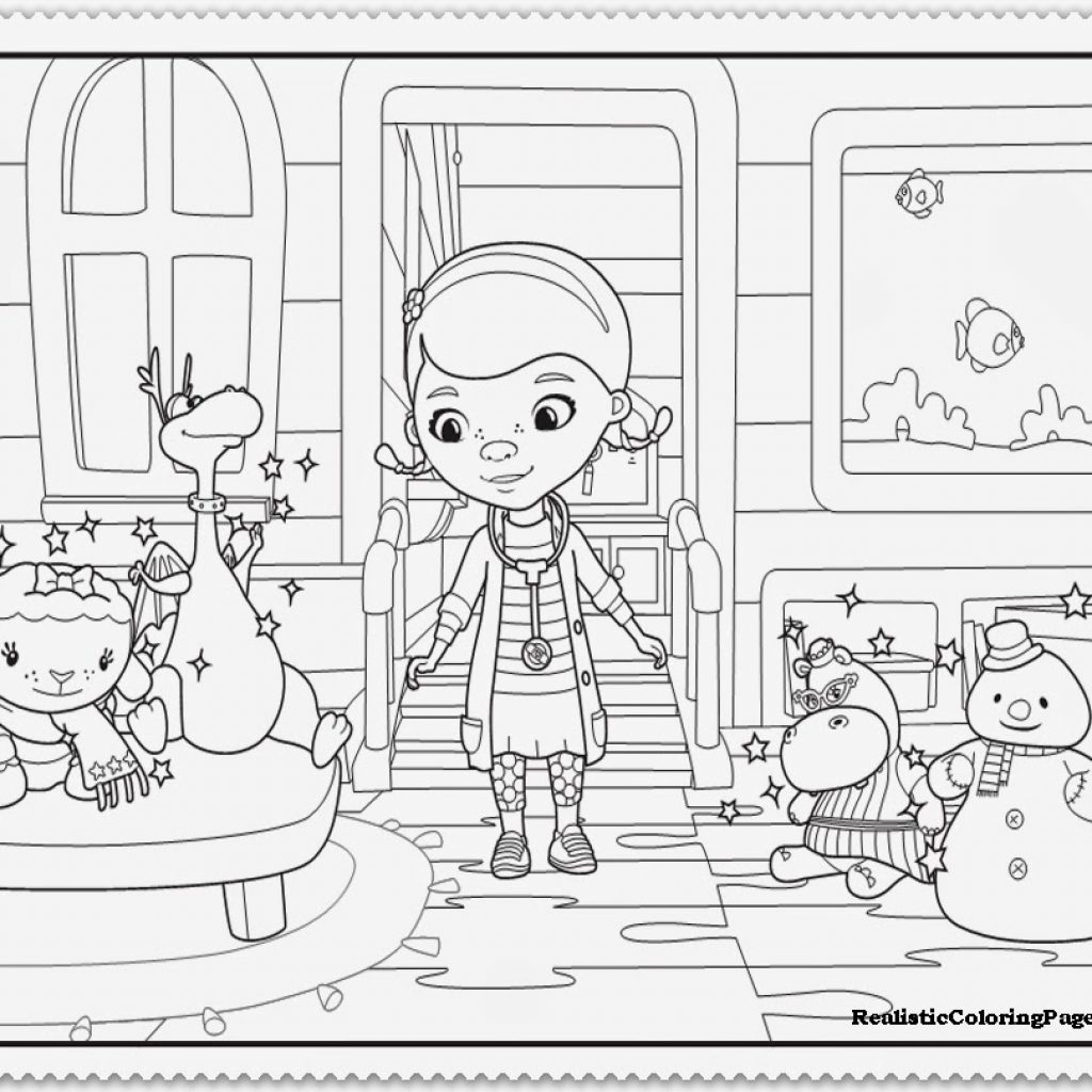 Christmas Coloring Pages For 9 Year Olds With Doc McStuffins Dr Odd
