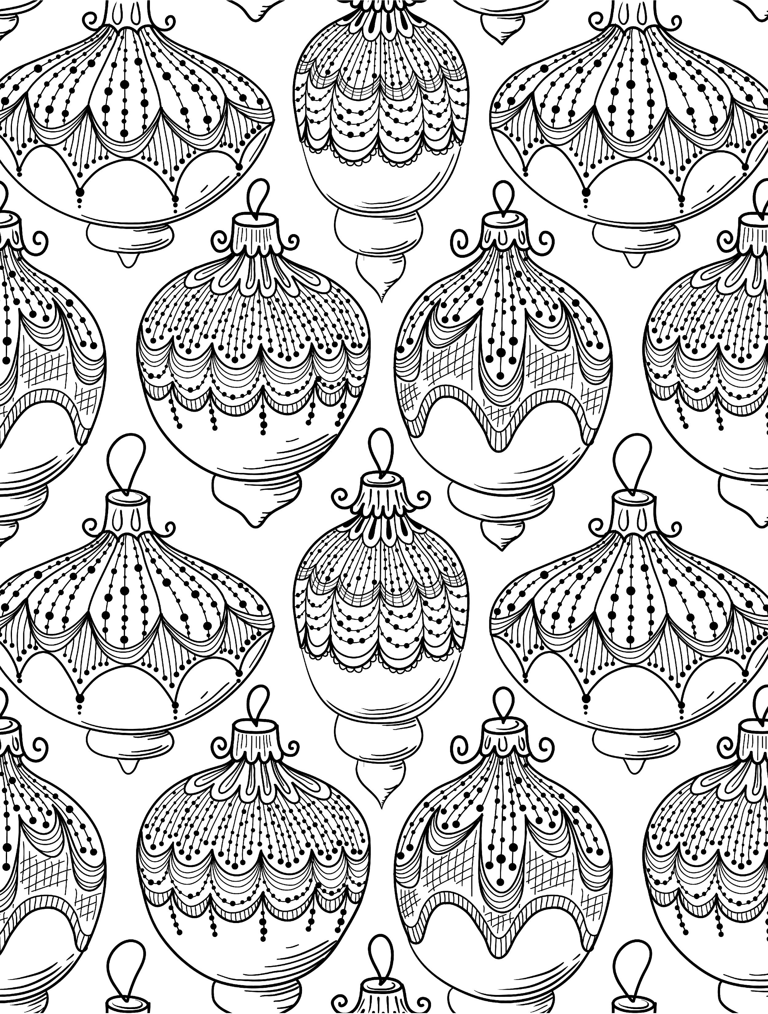 Christmas Coloring Pages For Adults Free Printable With Lovely Adult Bell Rehwoldt