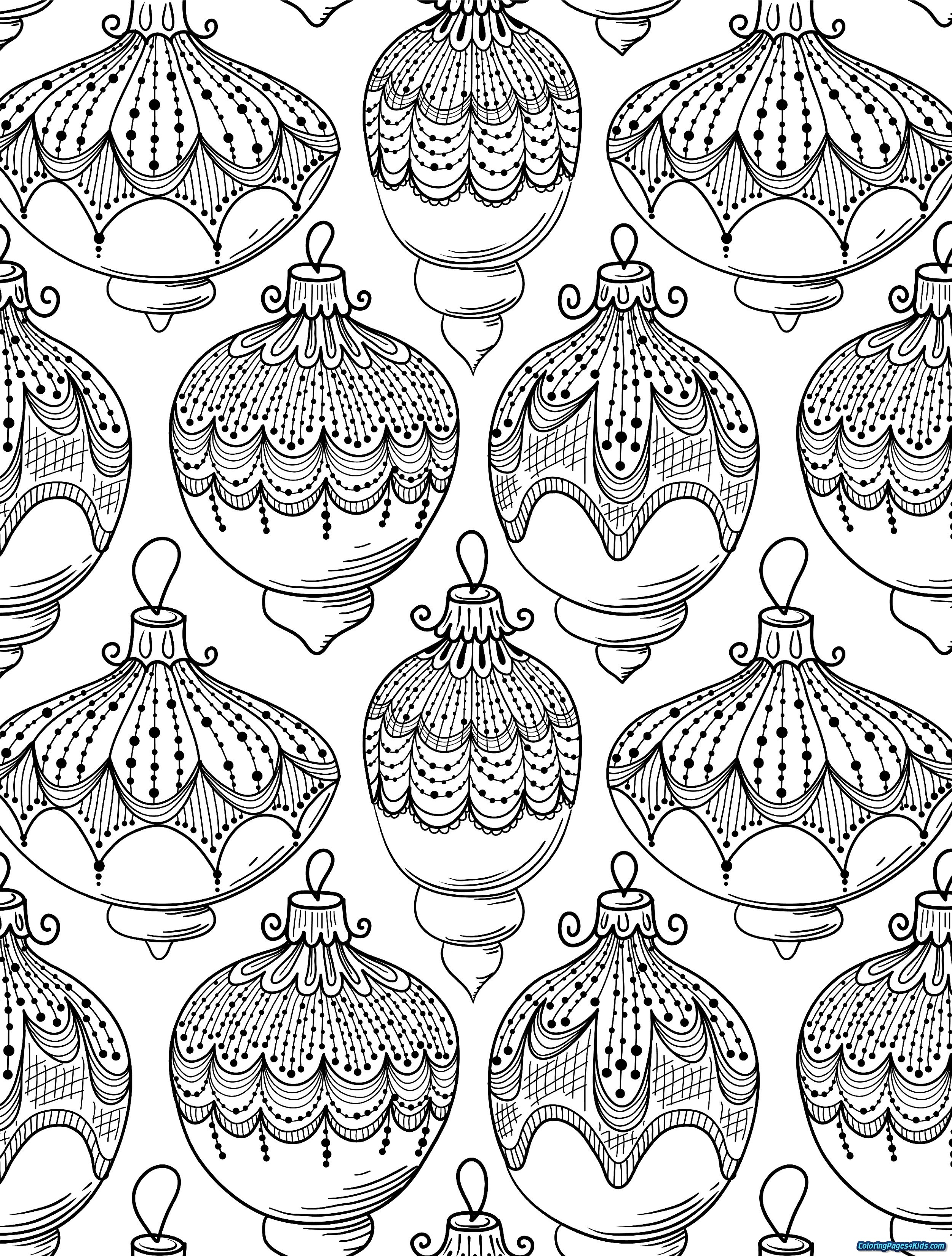 Christmas Coloring Pages For Adults Free With Adult Kids