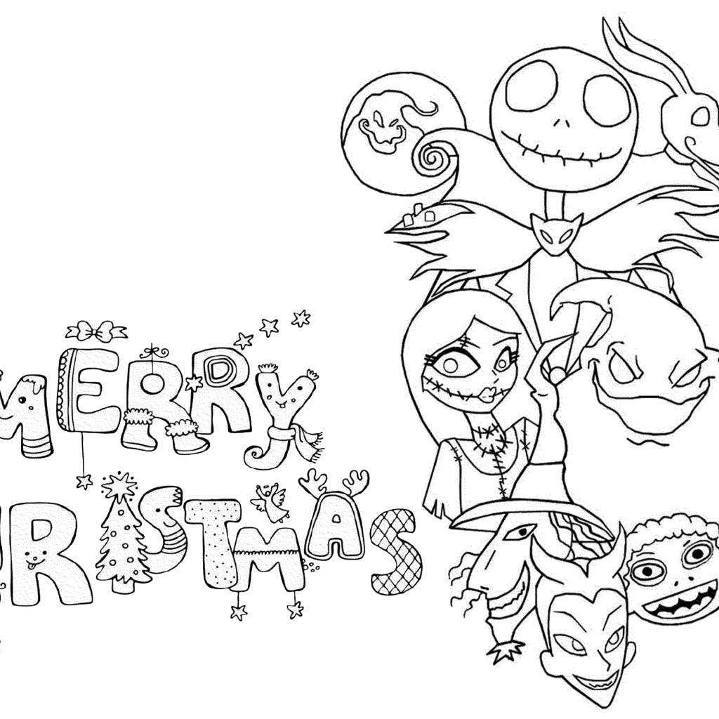 Christmas Coloring Pages For Adults Free With The Best Pictures Of Kids