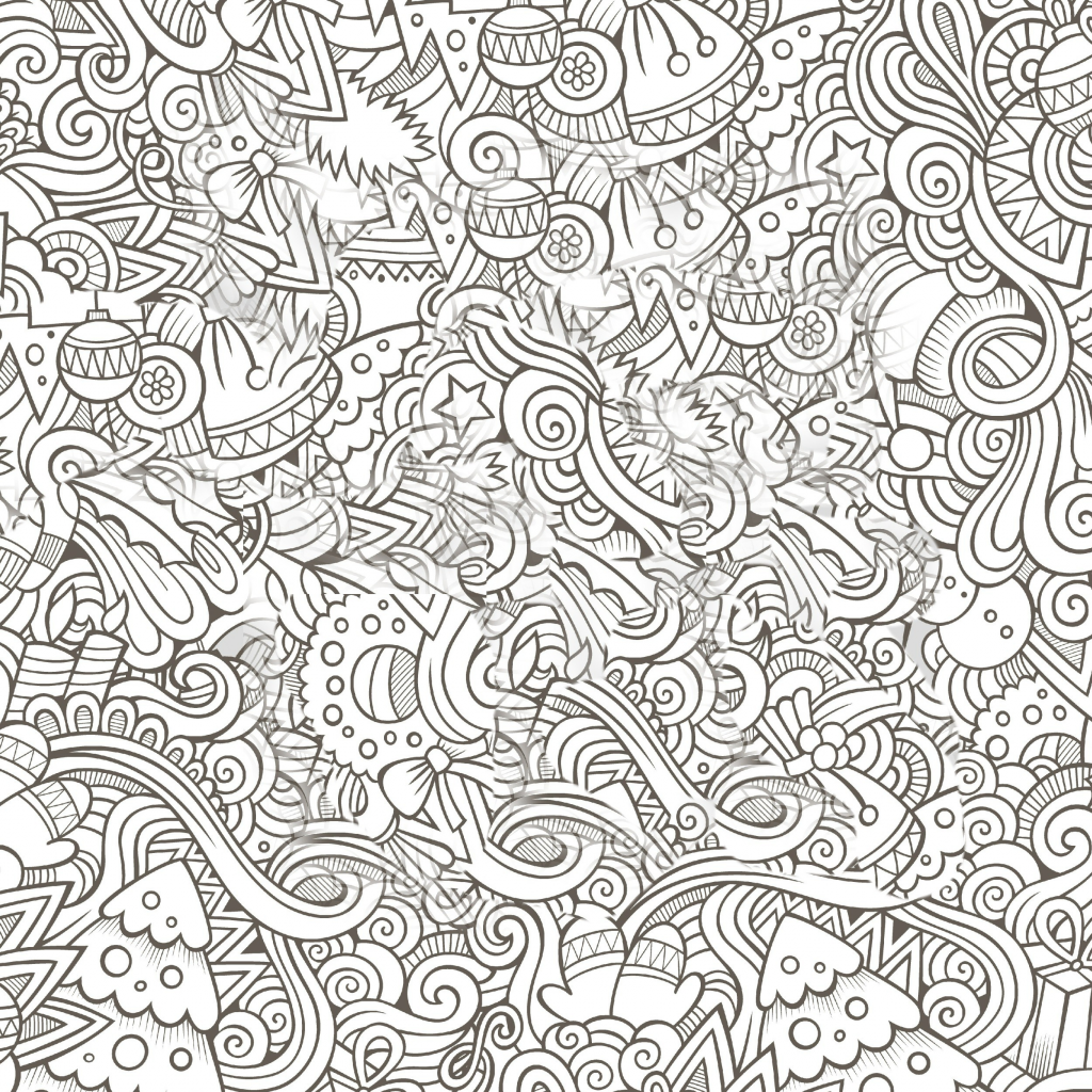 Christmas Coloring Pages For Adults Printable Free With Medquit Holiday