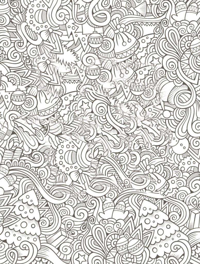 Christmas Coloring Pages For Adults To Print With New Free Adult