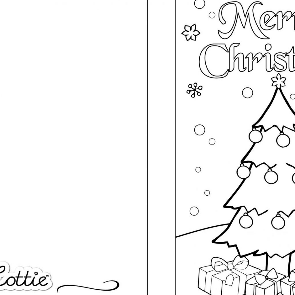 Christmas Coloring Pages For Cards With Card
