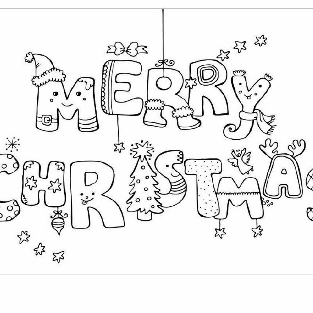 Christmas Coloring Pages For Cards With Card Ideas Kids To Draw Happy Holidays
