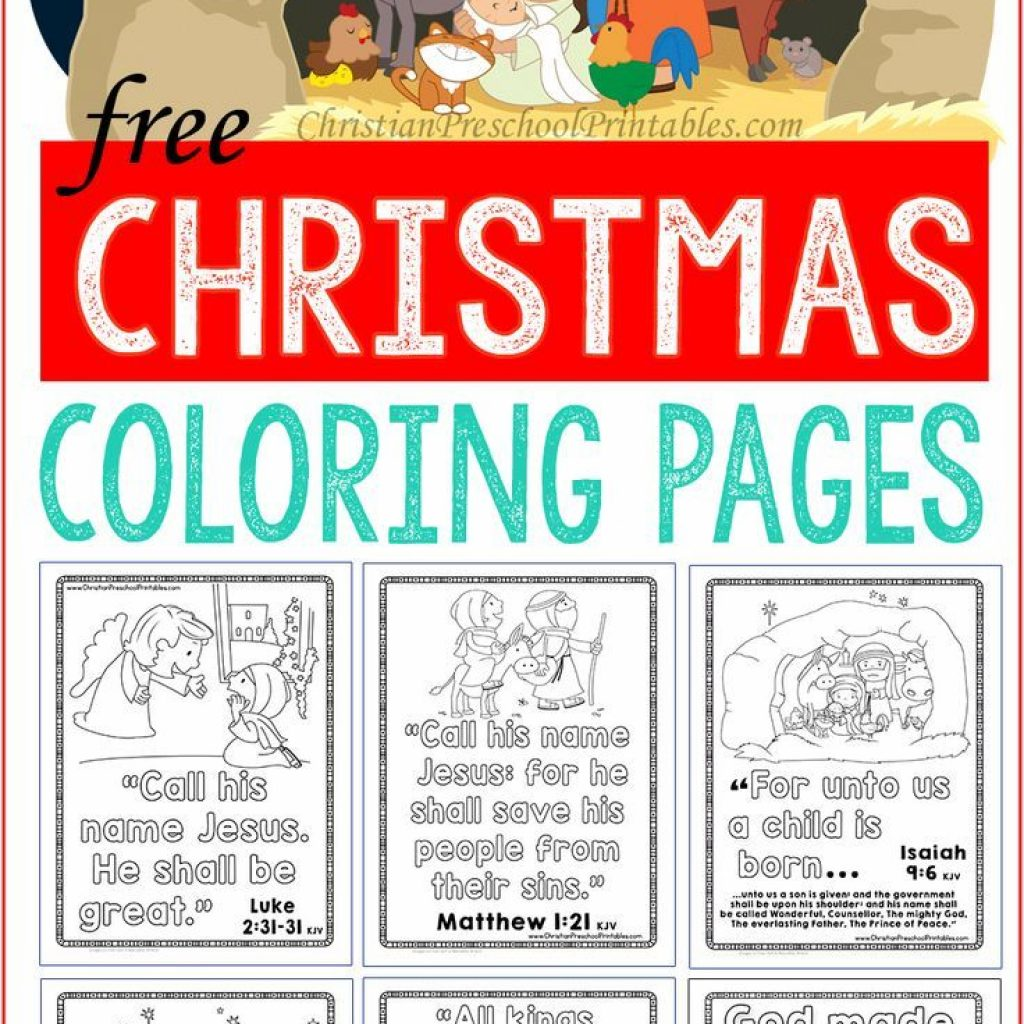 Christmas Coloring Pages For Children S Church With Bible Childrens Pinterest