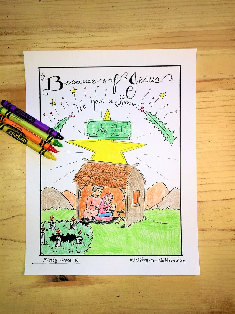 Christmas Coloring Pages For Children S Church With Ministry Deals